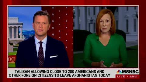 W.H. Press Secretary Dodges Questions About Americans In Afghanistan