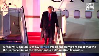 Federal judge says U.S. cannot replace Trump in columnist's slander suit