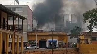 Incendio en la carrera 20 con calle 31 del Centro de Bucaramanga