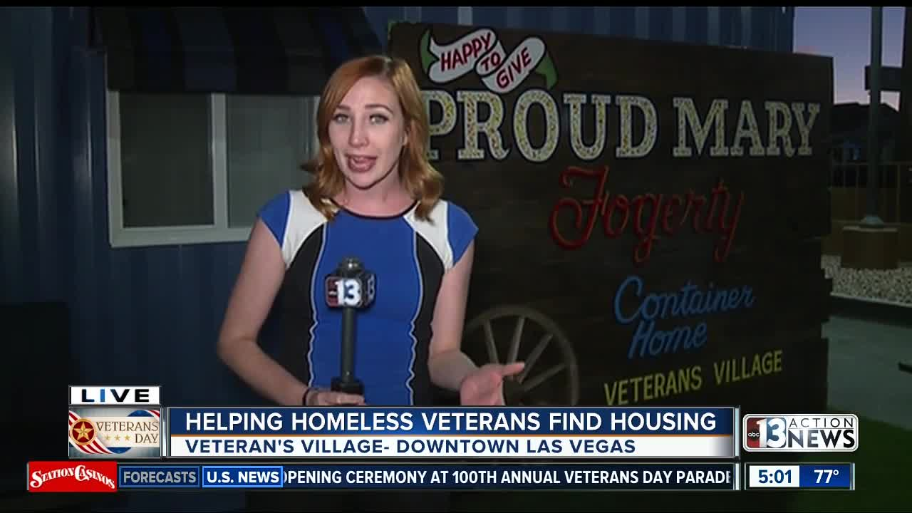 Old shipping containers become new homes for Las Vegas valley veterans