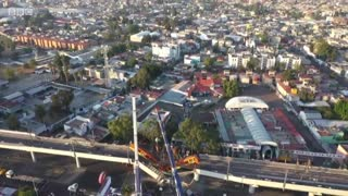 At least 24 dead after train plunges onto busy road in Mexico City