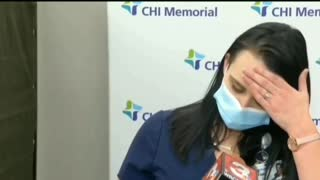 Nurse PASSES OUT After Covid 19 Vaccination On LIVE TV