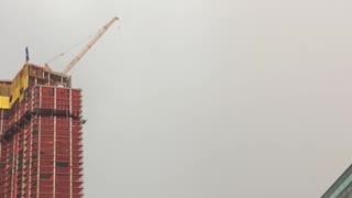 Lightning Strikes a Crane in Jersey City