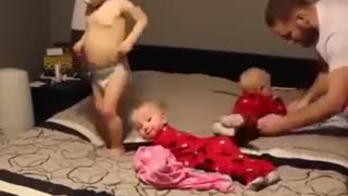 Father suffers to change the 3 children