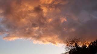 Glowing sunset clouds