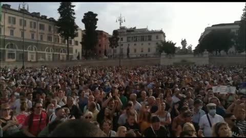 """Roma: mobilitazione popolare contro il """"green pass"""""""