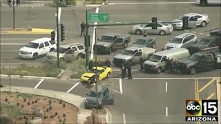 Corvette Police Pursuit, Crazy PIT Move, 🔥🔥🔥 & K9 To Top It Off