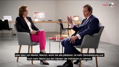 Nigel Farage und Beatrix von Storch über den Brexit und die EU, aufgezeichnet Ende 2017