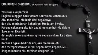 Spiritual Communion in Indonesian