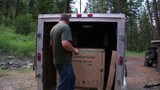 Modern Homesteading - Solar Panels arrive