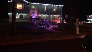 Christmas lights display ride a long
