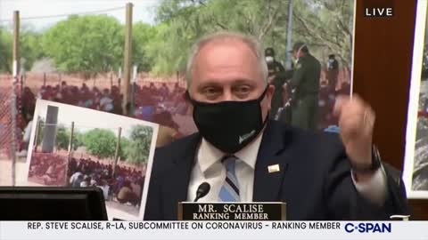 Rep Scalise Uses Photos, Forces Fauci to Admit Biden Border Facilities Violate CDC Guidelines