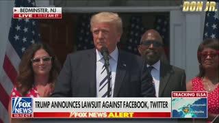 BREAKING: Trump Sues Big Tech Companies Over Censorship