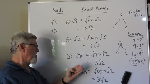 Math Surds 01 Intro to Square Roots and Rearranging Them