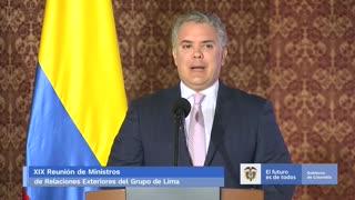 Iván Duque al grupo de Lima