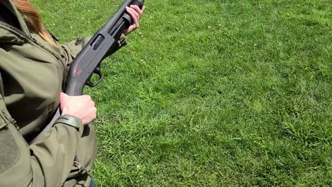 Kim's First Time With Shotgun- TV Vs. Shotgun