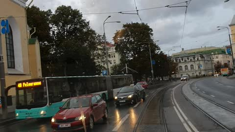 Estonia, insight into the streets of Tallinn.