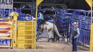 Junior NFR barrel racing (ages 12 - 16) part 2 on December 13, 2018 in Las Vegas.