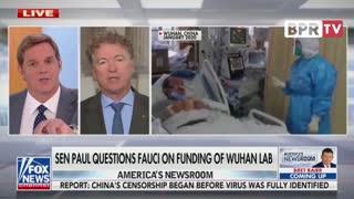 Senator Paul Questions Fauci On Funding Of Wuhan Lab