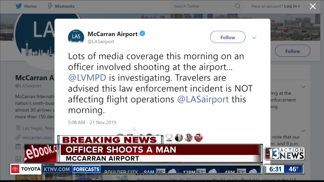 Update on shooting at Las Vegas airport