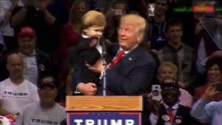 funny Donald Trump with a cursing kid