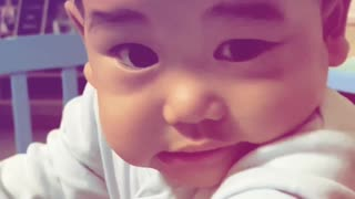 Cute baby wink