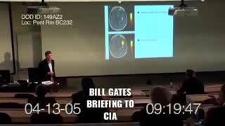 Bill Gates talking with CIA about gene suppressing vaccine