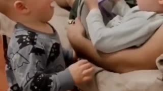 baby fighting