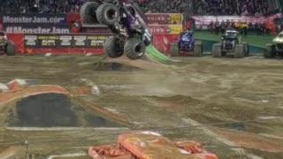 Monster Truck doing a Backflip!!