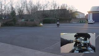 Rolling burnout motorcycle