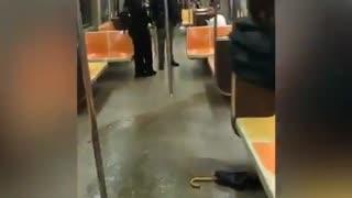 Subway door opens water floods in