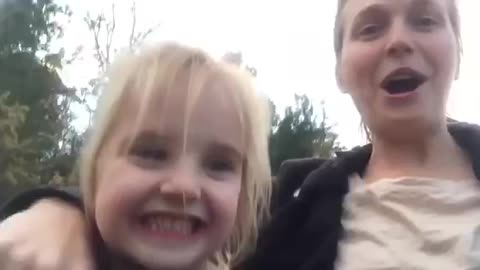 Adorable Girl Maro Has The Cutest Reaction On First Roller Coaster Ride With Her Mother Amy