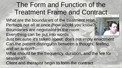 The Form and Function of the Treatment Frame and Contract
