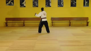 Little Samurang White Belt Black Tip