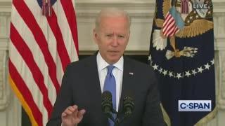 Biden Battles Teleprompter During Disaster Speech, Loses Bad