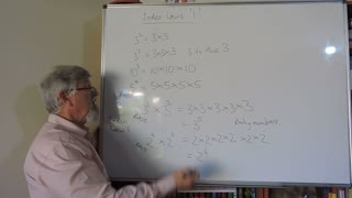 Math Index Laws or Exponent Set A 01 Introduction with Multiplication Mostly for Years/Grade 7 and 8