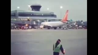 Air plane control guy dancing