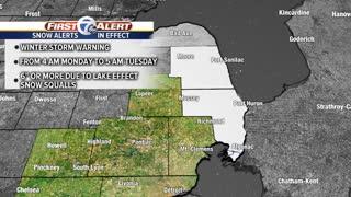 Winter Storm Warnings in effect