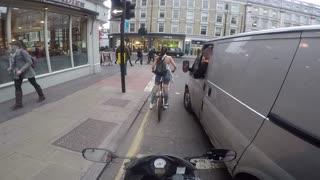 Cyclist Girl Gets Revenge On Catcalling Van Driver