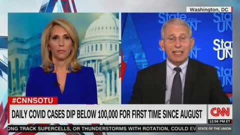 Anthony Fauci: 'Tough to Predict' When Vaccinated Can Take Mask Off