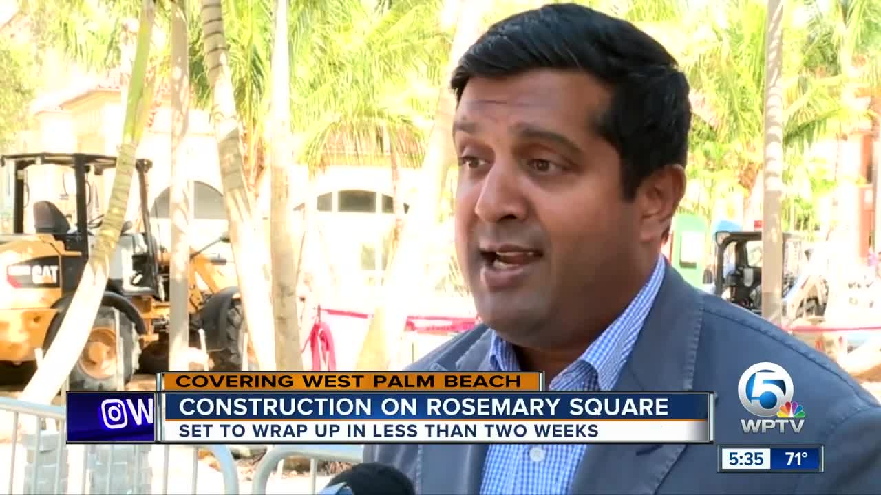 Construction on Rosemary Square wrapping up