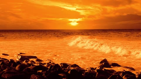 New York Orange sunset.
