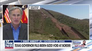 Gov. Abbott Speaks to Laura Ingraham About New Border Wall