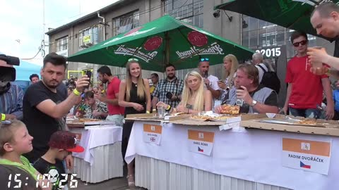 $1000 pizza eating contest vs Kate ovens and other Top eaters