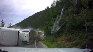 Semi Crosses into Oncoming Highway Traffic