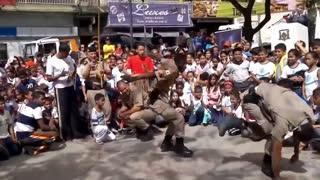 Police in the Capoeira Roda