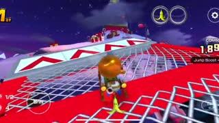 Mario Kart Tour - Merry Mountain T Gameplay (Winter Tour)