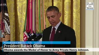 Flashback: President Obama Awards Medal of Honor to Army Private Henry Johnson.