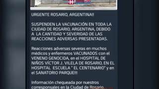 Equipo médico de Rosario, Argentino denuncia efectos secundarios de vacuna contra el COVID 19