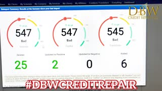 Results after one month of credit repair.